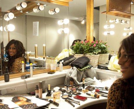 Alexandra Burke backstage in Glasgow