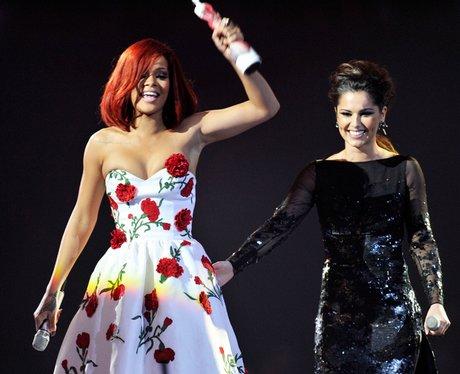 Cheryl Cole and Rihanna together.