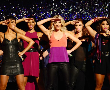 The Saturdays performing live in concert