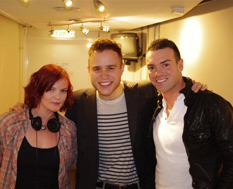 Olly Murs backstage at the SECC