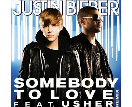 The single cover for Justin Bieber's 'Somebody To Love' featuring Usher.