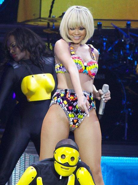 Rihanna with new blonde hair