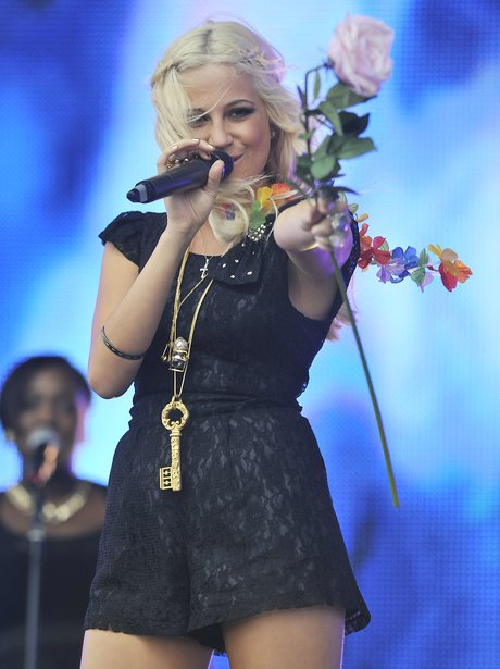 Pixie Lott performs on stage