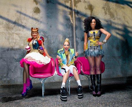 Stooshe promoting their single 'Black Heart'