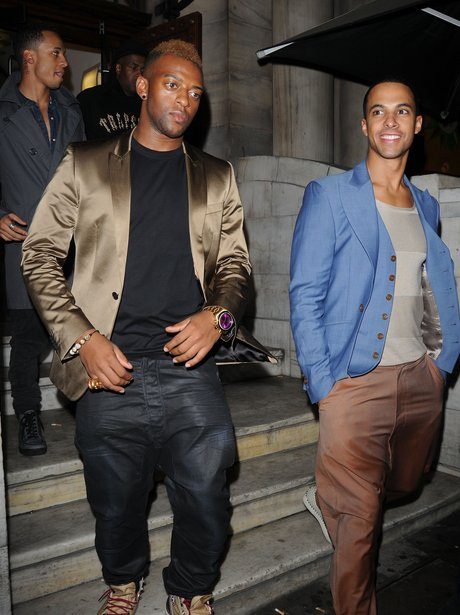 JLS celebrate Aston's birthday