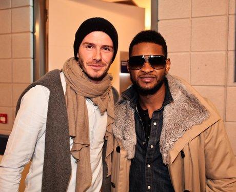 David Beckham with Usher