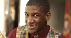 Labrinth with the Olympic torch