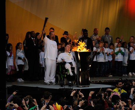 Torchbearer Carl Tilson and the Olympic Flame