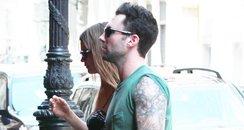 Adam Levine with Behati Prinsloo