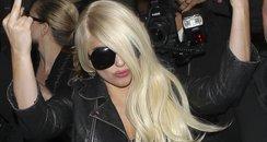 Lady Gaga at LAX Airport