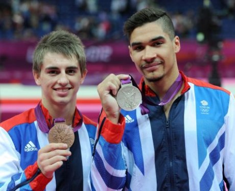 Max Whitlock and Louis Smith with their medals.
