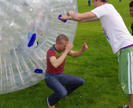 Hirsty, Danny and JoJo Zorbing at Another World Ad