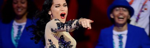 Jessie J performs at 2012 Olympic Games closing ceremony