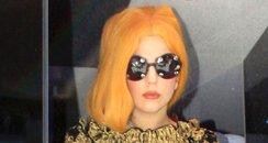 Lady Gaga with orange hair