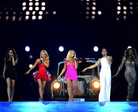 The Spice Girls reunite for the Olympic Games.