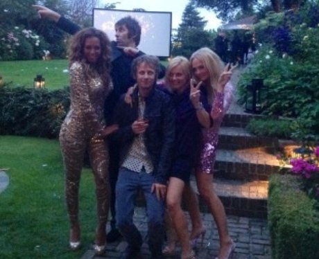 The Spice Girls with Beady Eye's Liam Gallagher.