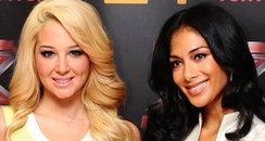 Tuisa and Nicole Scherzinger at the 2012 X Factor