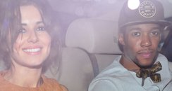 Cheryl Cole and Tre Holloway in a taxi