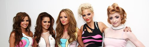Girls Aloud backstage