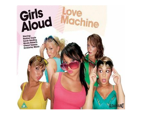 Girls Aoud's 'Love Machine' single cover.