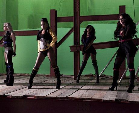 Little Mix filming 'DNA' video