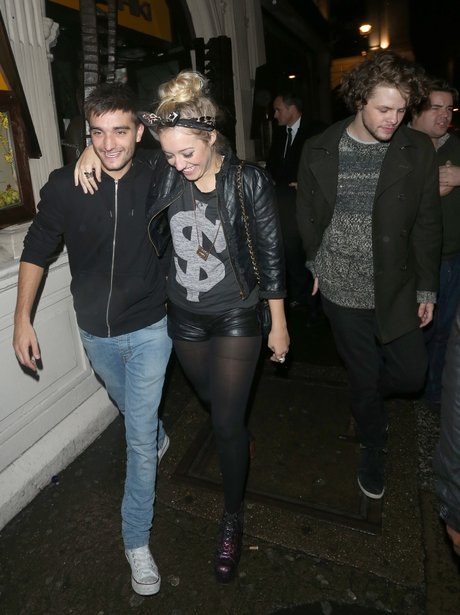 The Wanted's Tom Parker and his girlfriend.