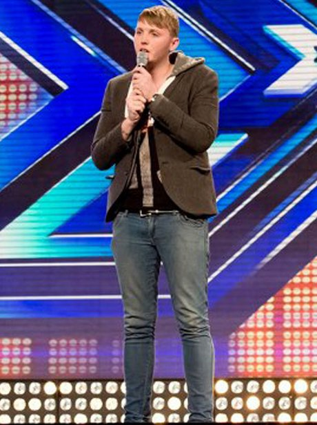 James Arthur performing on the X Factor