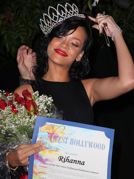 Rihanna is crowned as Queen of West Hollywood .