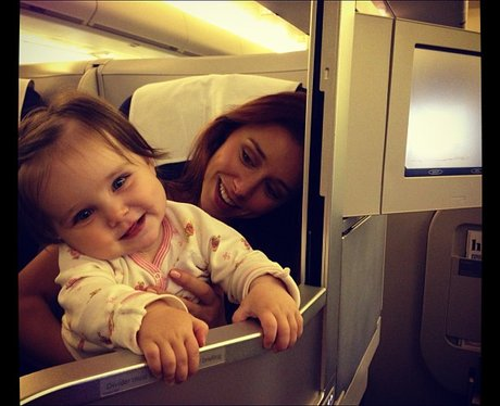 Una Healy and Aoife on the plane