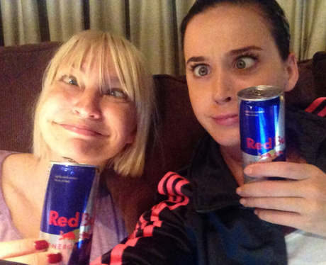 Katy Perry and Sia in the recording studio
