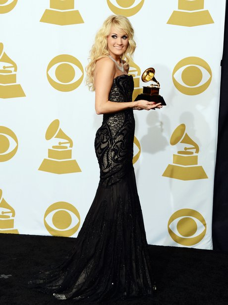 Carrie Underwood at the 2013 Grammy Awards