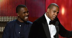Frank Ocean, Jay-Z and The-Dream  at the 2013 Gram
