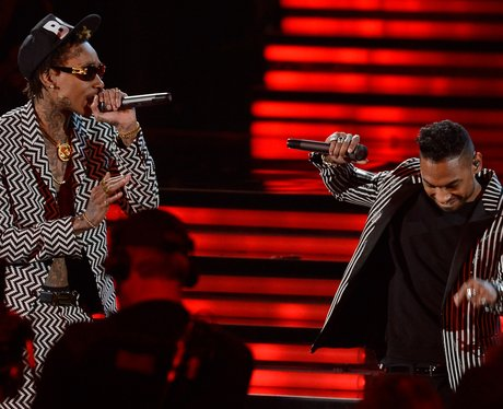 Miguel and Wiz Khalifa live at the 2013 Grammy Awa