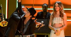 Rihanna and Bruno Mars live at the 2013 Grammy Awa