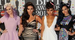 Little Mix attend the Brit Awards 2013