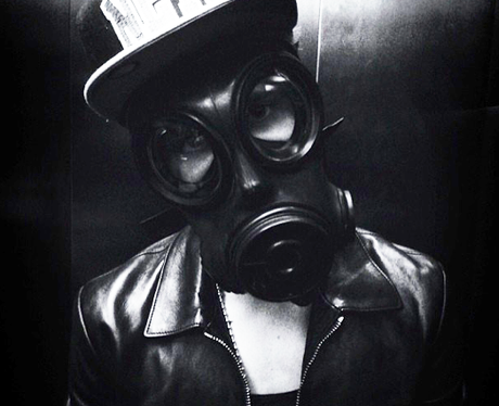 Justin Bieber Wearing Gas Mask