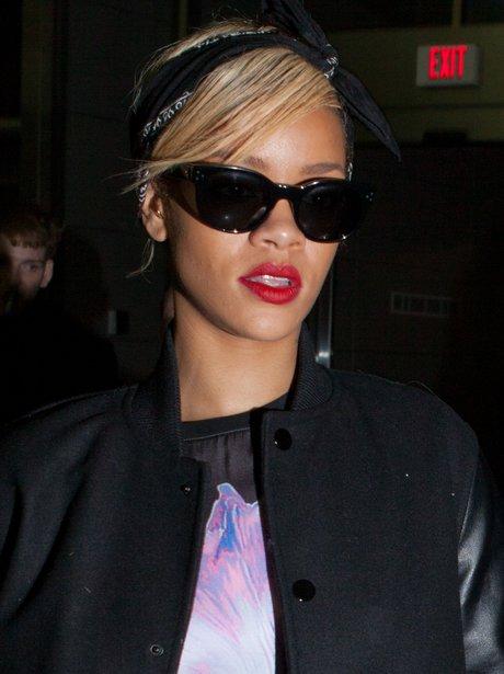 Rihanna wearing sunglasses