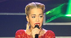 Rita Ora performs at Paris Fashion Week