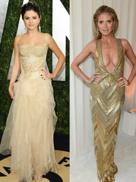 Selena Gomez and Heidi Klum at the Oscars 2013
