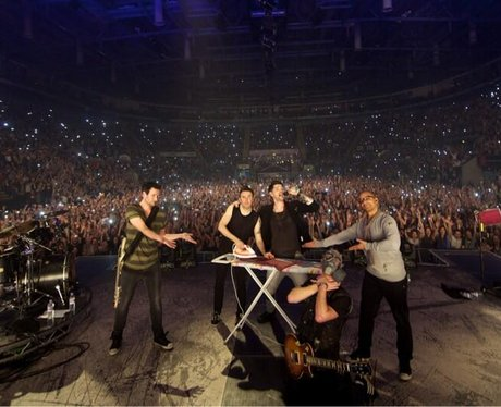 The Script Ironing On Stage