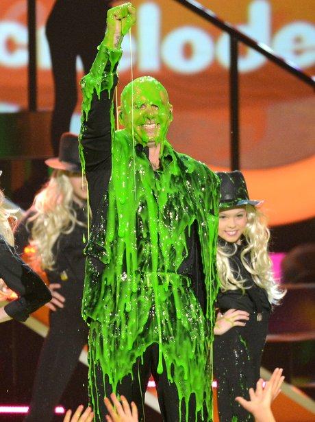 Pitbull at the Nickelodean Kids Choice Awards 2013