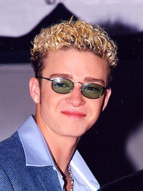 Justin Timberlake with blonde bleached hair