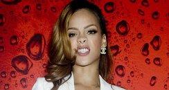 Rihanna poses backstage on her Diamonds World Tour