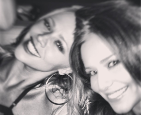 Cheryl Cole and Kimberley Walsh  out in London together
