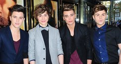 Union J arriving for the premiere of Star Trek Int