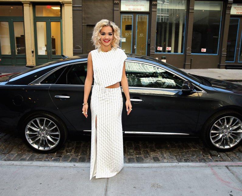 Rita Ora wearing Thakoon dress at MET Ball 2013
