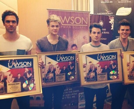 Lawson celebrate their debut album going gold