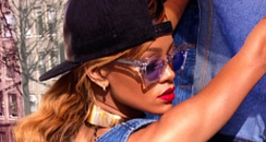 Rihanna wearing denim