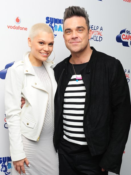 Robbie Williams and Jessie J Red Carpet Summertime