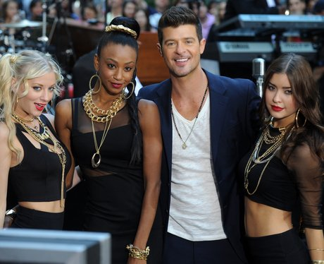 Robin Thicke on the Today show
